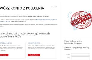 """IV edycja programu """"Mam PKO"""" – zgarnij 100 zł za założenie konta w PKO BP i 50 zł za polecenie"""