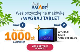"""""""Weź pożyczkę na majówkę i wygraj tablet"""" – wiosenna promocja w Smart Pożyczka"""