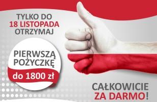 Święto Niepodległości razem z Szybką Gotówką – pożycz do 1800 zł za darmo!