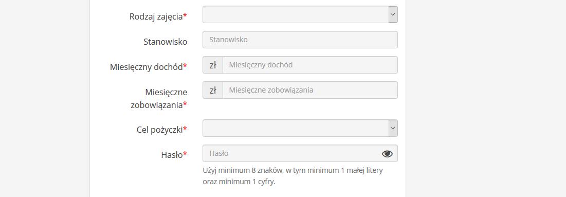 Trzecia strona formularza w Tani Kredyt