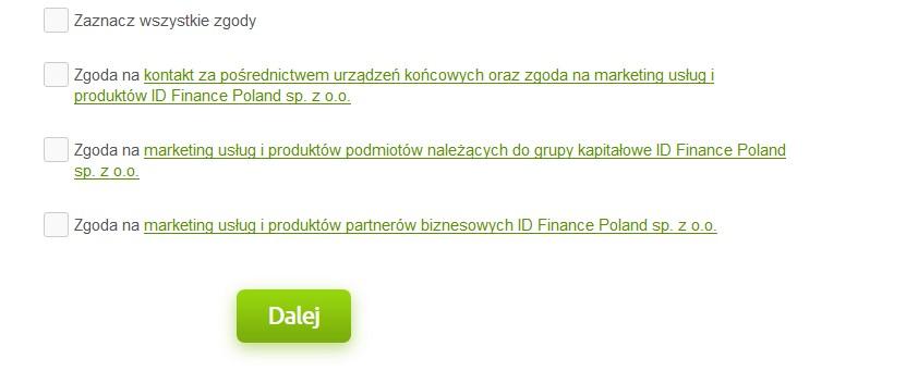 Trzecia strona formularza w MoneyMan