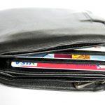 portfel z kartami kredytowymi