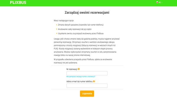 screen ze strony flixbus.pl