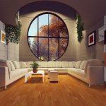 apartament z dużym oknem